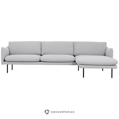 Light gray corner sofa (moby) (in box, intact)