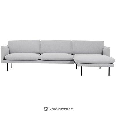 Šviesiai pilka kampinė sofa (moby) (dėžutėje, nepažeista)
