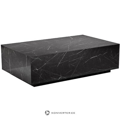 Стол журнальный дизайнерский черный (lesley) (с дефектом, образец холла)