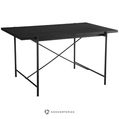 Black dining table (mica) (in box, whole)