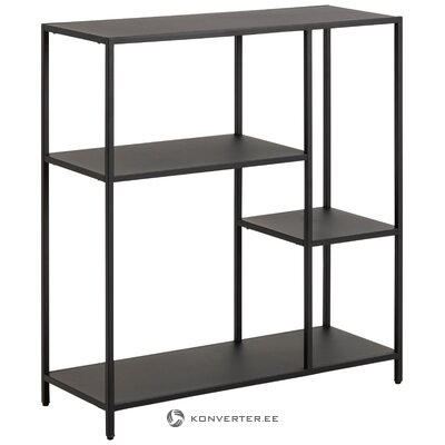 Black metal shelf (actona)