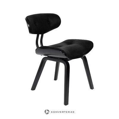 Черный стул blackwood (dutchbone) (в коробке, целиком)
