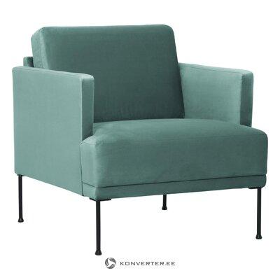 Zaļš samta krēsls (brīvs) (kastē, vesels)