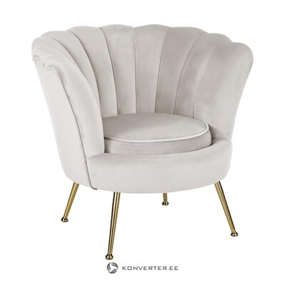 Light gray armchair (oyster) (in box, whole)