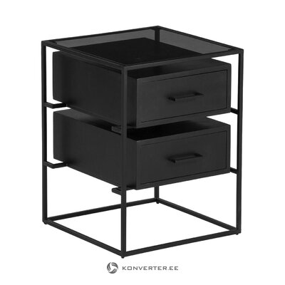 Black bedside table (lyle) (in box, whole)