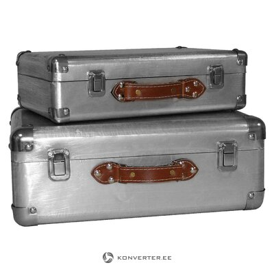 Antique style suitcase valeria (antic line) (in box, whole)