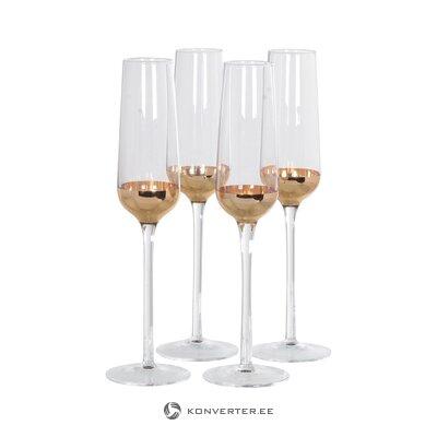 Šampanieša glāzes komplekts 4 gab. Claire (treneru māja) (kastē, vesels)