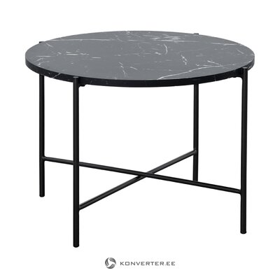Musta sohvapöytä marmorijäljitelmällä (fria) (puutteilla, Hall-näyte)