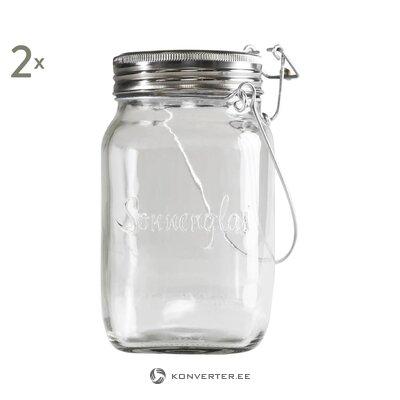 Led-auringonvalo 2 kpl (sonnenglas) (laatikko, koko)