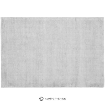 Silver-gray viscose carpet (jane) (hall sample, with beauty defect,)