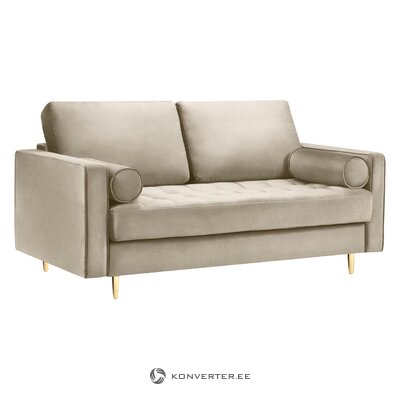 Gray-golden small sofa giulietta (besolux) (whole, hall sample)