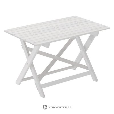White garden table torpedo (hillerstorp) (in box, whole)