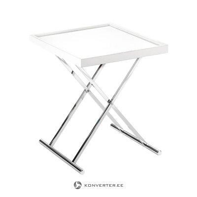 Balta-sudraba izvelkamais kafijas galdiņš baldi (tomasucci) (kastē, vesels)