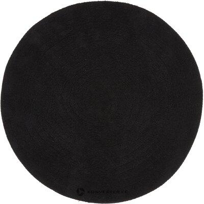 Musta pyöreä matto emma (jotex)