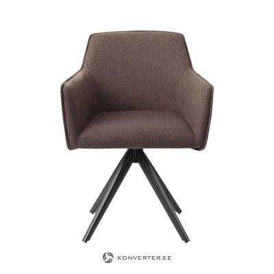 Brūns grozāms krēsls (jesper home) (kastē, vesels)