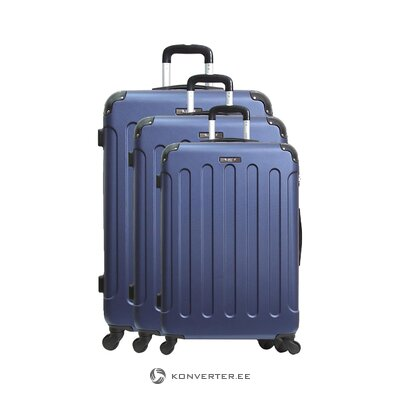 Blue medium suitcase madrid (brand development) (in box, whole)