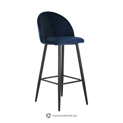 Dark blue velvet bar stool amy (anderson) (boxed, whole)