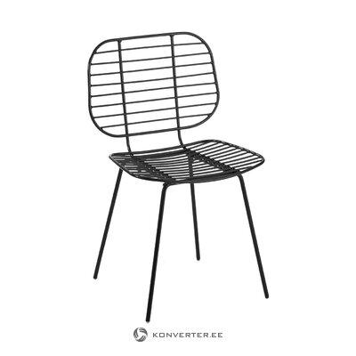 Melna metāla krēsls (hloja) (vesels, kastē)