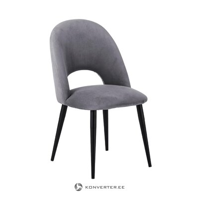 Pelēks samta krēsls (Rachel) (vesels, kastē)