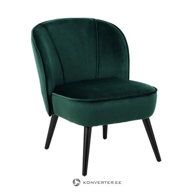 Dark green velvet armchair lucky (anderson) (whole, boxed)