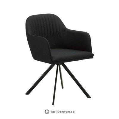 Melns grozāms krēsls (lola) (vesels, kastē)