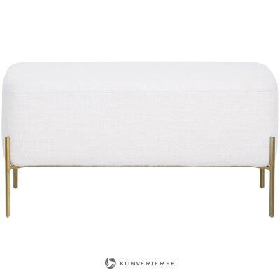 White-gold bench (harper) (whole, in a box)