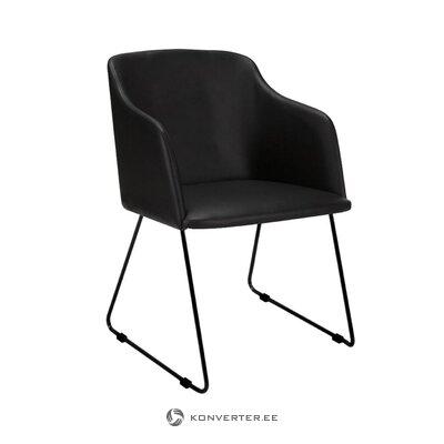 Melns krēsls Casablanca (interstil denmark) (vesels, kastē)