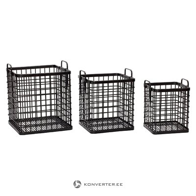 Storage basket set 3-piece canine (hübsch) (whole, in box)