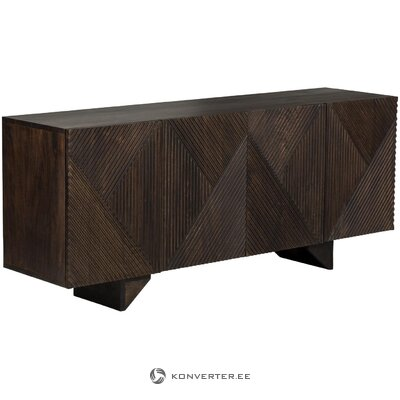 Dark brown chests of drawers (louis) (whole, in box)