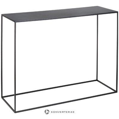 Melnā metāla konsoles galds (pielāgota forma) (vesels, kastē)