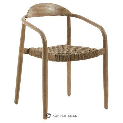 Masīvkoka dizaina krēsls (la forma) (ar trūkumiem, Hall paraugs)