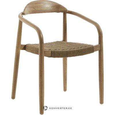 Massiivipuinen design-tuoli nenällä (la forma)