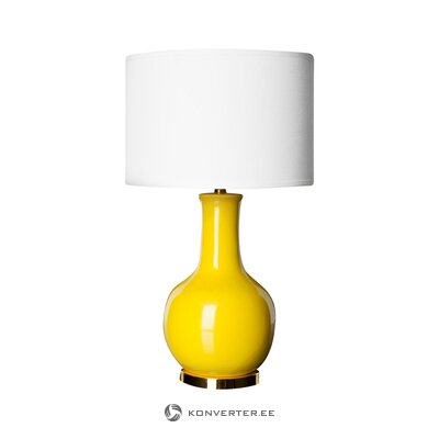 Yellow and white table lamp charlie (safavieh) (incomplete, hall sample)
