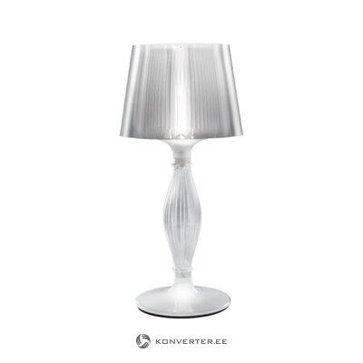 Balta dizaina galda lampa (slampa) (visa, zāles paraugs)