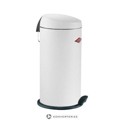 White trash can (wesco) (whole, hall sample)