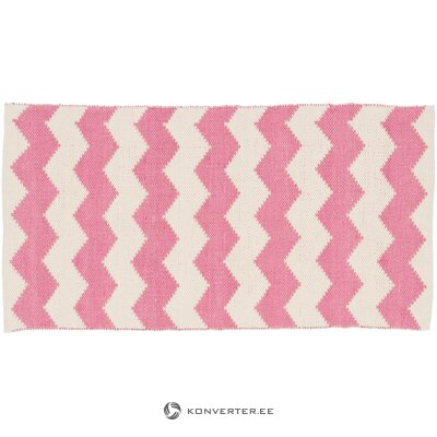 Pink and white carpet (bora) (whole, hall sample)