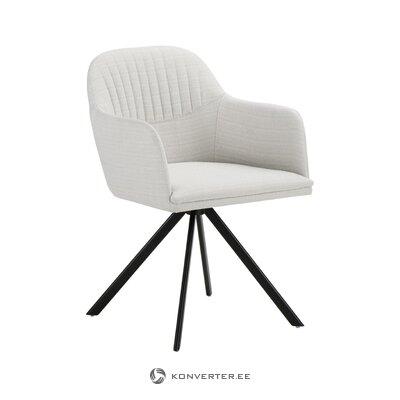 Кресло вращающееся серо-черное (лола) (целое образец зала)