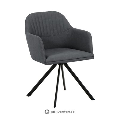 Gray swivel armchair (lola) (whole, hall sample)