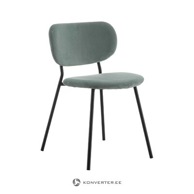 Gray-black velvet chair (alexandra house) (whole, hall sample)