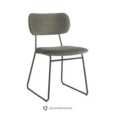 Серый бархатный стул (camino) (здоровый, образец)