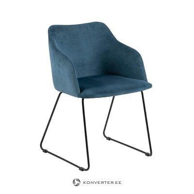 Blue velvet chair casablanca (actona)
