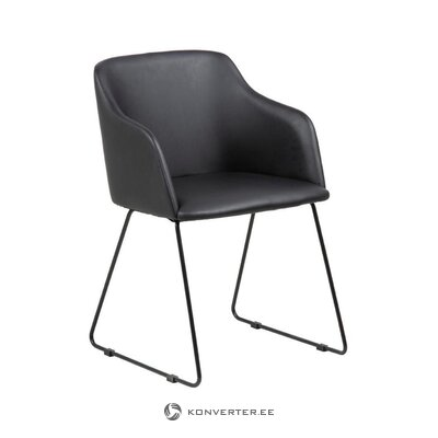 Melns krēsls Casablanca (Acotna)