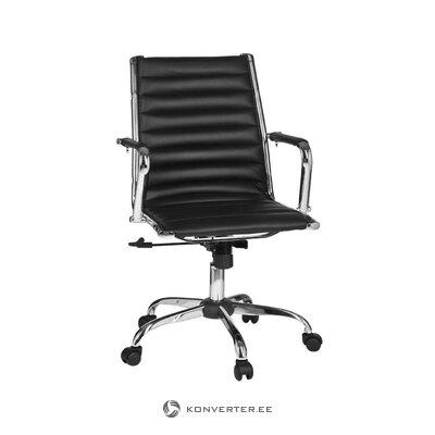 Melns biroja krēsls (skyport) (viss, zāles paraugs)