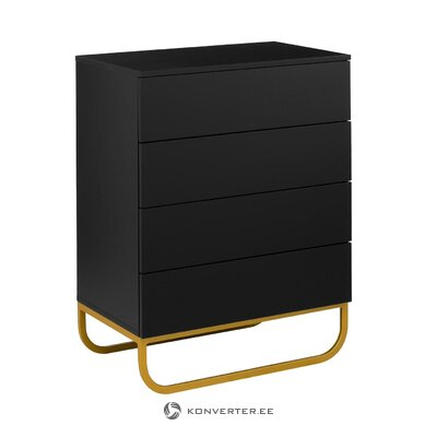 Black small chest of drawers (sanford) (whole, hall sample)