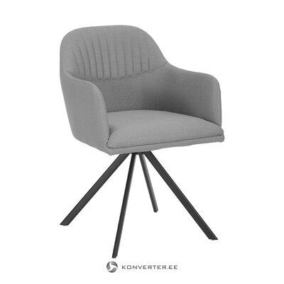 Pelēks-melns grozāms krēsls (Lola)