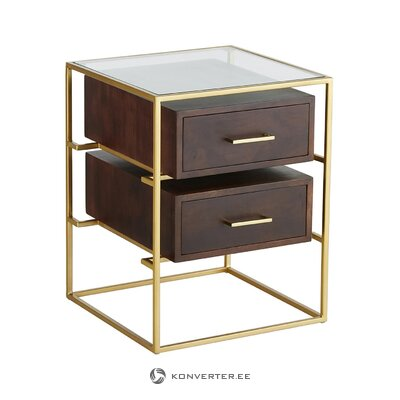 Brown-gold bedside table (lyle)