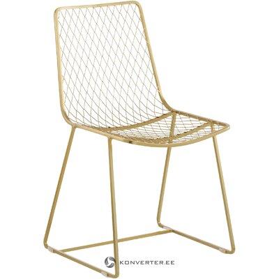 Золотой металлический стул (киара)