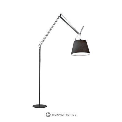Melna grīdas lampa Tolomeo (Artemide)