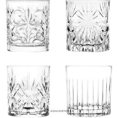 Набор стаканов для питья рельефный 4 предм. (Rcr)