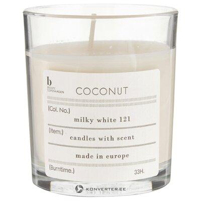 Kokosriekstu aromātiska svece (Kopenhāgena) (visa, zāles paraugs)